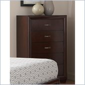 Coaster Simone 5 Drawer Chest in Cappuccino Finish