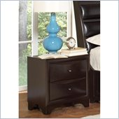 Coaster Webster 2 Drawer Nightstand in Brown Maple Finish