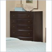 Coaster Webster 6 Drawer Chest in Brown Maple Finish