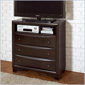 Coaster Webster 3 Drawer Media Chest in Brown Maple Finish