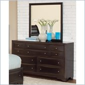 Coaster Webster Dresser and Mirror Set in Brown Maple Finish
