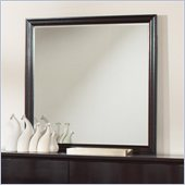 Coaster Lloyd Square Mirror in Dark Cappuccino Finish
