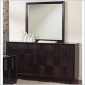 Coaster Lloyd 6 Drawer Dresser and Mirror Set in Dark Cappuccino Finish