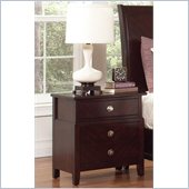 Coaster Albright 3 Drawer Nightstand in Cherry Finish