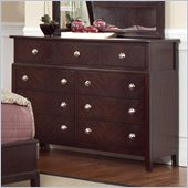 Coaster Albright 9 Drawer Dresser in Cherry Finish