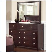 Coaster Albright 9 Drawer Dresser and Mirror Set in Cherry Finish