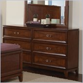 Coaster Katharine 6 Drawer Dresser in Oak Finish