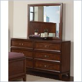 Coaster Katharine 6 Drawer Dresser and Mirror Set in Oak Finish