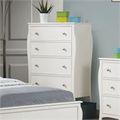 Coaster Dominique 4 Drawer Chest in White Finish
