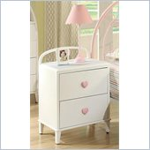 Coaster Juliette 2 Drawer Nightstand in White Finish