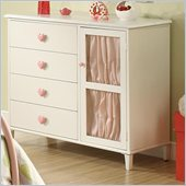 Coaster Juliette 4 Drawer Dresser with Door in White Finish