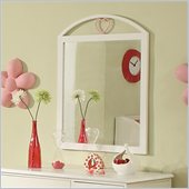 Coaster Juliette Mirror with Arched Heart Motif Top in White Finish