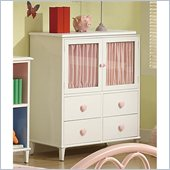 Coaster Juliette 4 Drawer Chest with Doors in White Finish