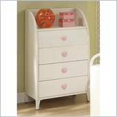 Coaster Juliette 4 Drawer Chest in White Finish