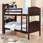 Coaster Parker Bookcase Twin over Twin Bunk Bed