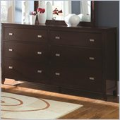 Coaster Calvin 6 Drawer Dresser in Cappuccino Finish