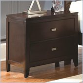 Coaster Calvin 2 Drawer Nightstand in Cappuccino Finish