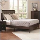 Coaster Simone Upholstered Bed in Cappuccino Finish