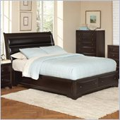 Coaster Webster Sleigh Bed in Brown Maple Finish