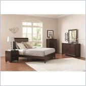 Coaster Simone 5 Piece Bedroom Set in Cappuccino Finish