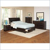 Coaster Webster 4 Piece Bedroom Set in Brown Maple Finish