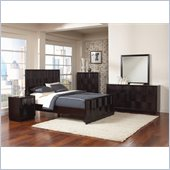Coaster Lloyd 4 Piece Bedroom Set in Dark Cappuccino Finish