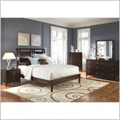 Coaster Calvin 4 Piece Bedroom Set in Cappuccino Finish