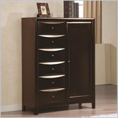Coaster Hillary and Scottsdale Armoire in Warm Brown