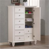 Coaster Sandy Beach Armoire in White