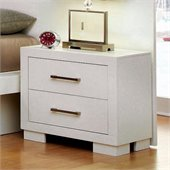 Coaster Jessica Two Drawer Nightstand in White