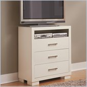 Coaster Jessica Three Drawer Media Chest in White