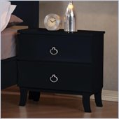 Coaster Holland Two Drawer Nightstand in Black