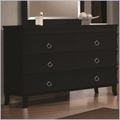 Coaster Holland Six Drawer Dresser in Black