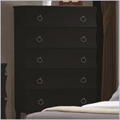 Coaster Holland Five Drawer Chest in Black