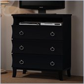 Coaster Holland Three Drawer Media Chest in Black