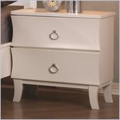 Coaster Holland Two Drawer Nightstand in White