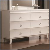 Coaster Holland Six Drawer Dresser in White