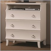 Coaster Holland Three Drawer Media Chest in White