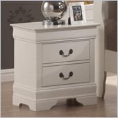 Coaster Saint Laurent Two Drawer Nightstand in White