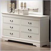 Coaster Saint Laurent Six Drawer Double Dresser in White