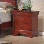 Coaster Louis Philippe Nightstand in Cherry