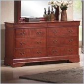 Coaster Louis Philippe Dresser in Cherry
