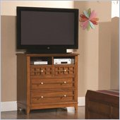 Coaster Aiden Media Chest in Warm Brown