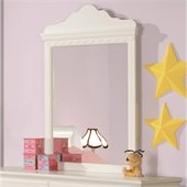 Coaster Pepper Mirror in White