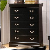 Coaster Louis Philippe Chest in Deep Black Finish