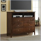 Coaster Tamara 6 Drawer Media Chest in Dark Walnut