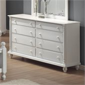 Coaster Kayla 8 Drawer Dresser in Distressed White Finish