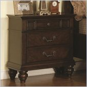 Coaster Sidney 2 Drawer Nightstand in Dark Cherry Finish