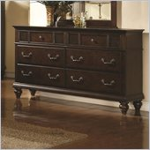 Coaster Sidney 6 Drawer Dresser in Dark Cherry Finish
