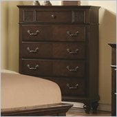 Coaster Sidney 5 Drawer Chest in Dark Cherry Finish